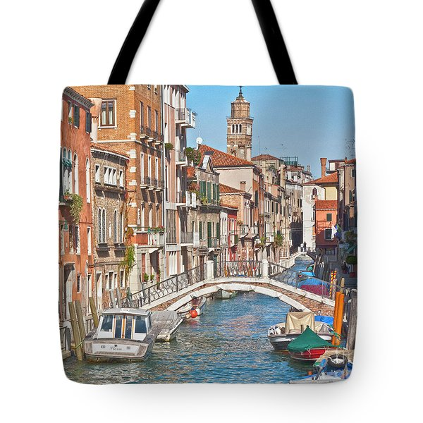 Venice Canaletto Bridging Tote Bag by Heiko Koehrer-Wagner