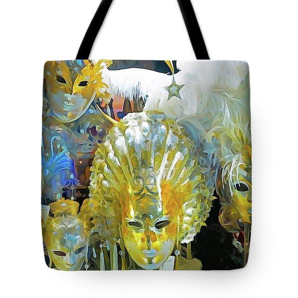 Venice Carnival Masks Tote Bag