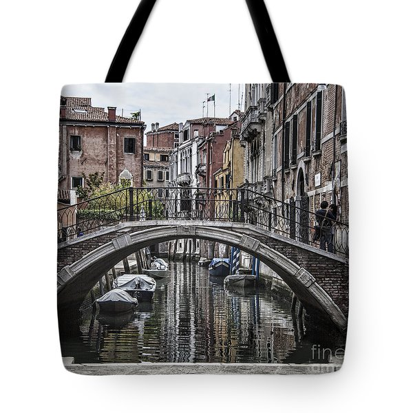 Tote Bag featuring the photograph Venice Crossing by Shirley Mangini