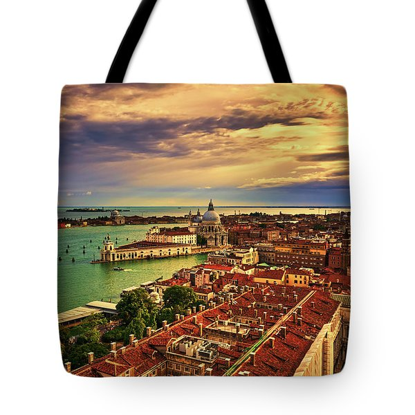 From The Bell Tower In Venice, Italy Tote Bag
