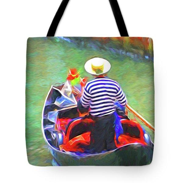 Venice Gondola Series #3 Tote Bag by Dennis Cox