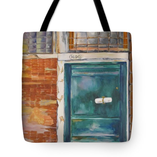 Venice Green Door Tote Bag