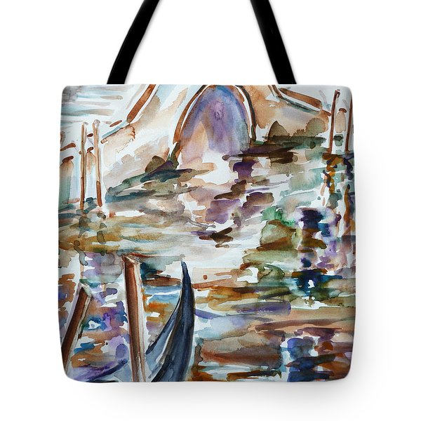 Tote Bag featuring the painting Venice Impression I by Xueling Zou