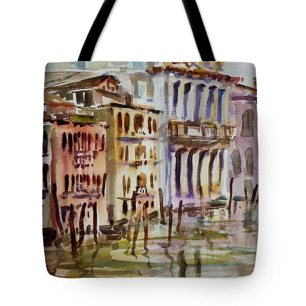 Tote Bag featuring the painting Venice Impression II by Xueling Zou