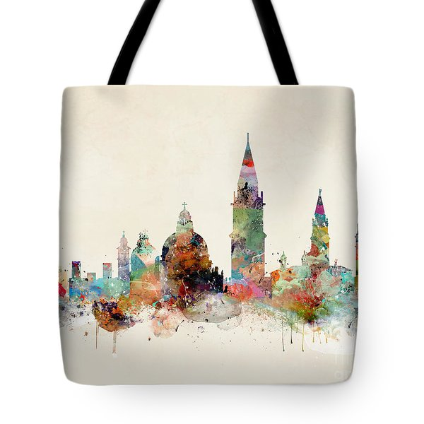 Tote Bag featuring the painting Venice Italy by Bri B