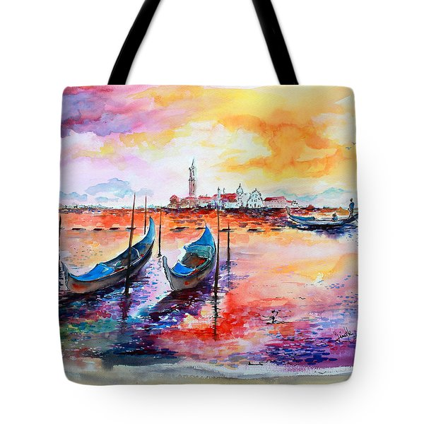 Venice Italy Gondola Ride Tote Bag by Ginette Callaway