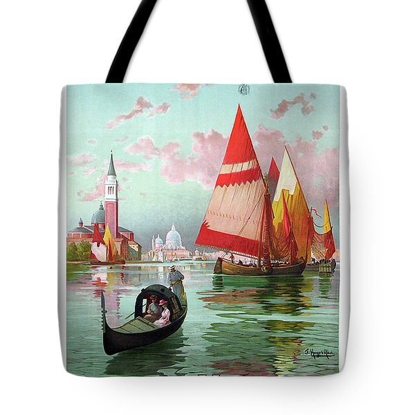 Venice, Italy, Sailing Boats Tote Bag