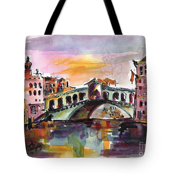 Venice Italy Silence Rialto Bridge Tote Bag