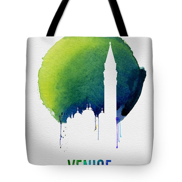 Venice Landmark Blue Tote Bag