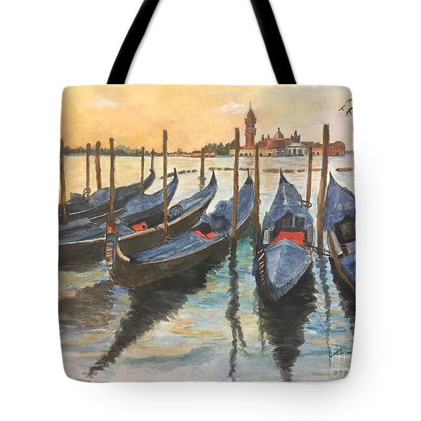 Tote Bag featuring the painting Venice by Lucia Grilletto