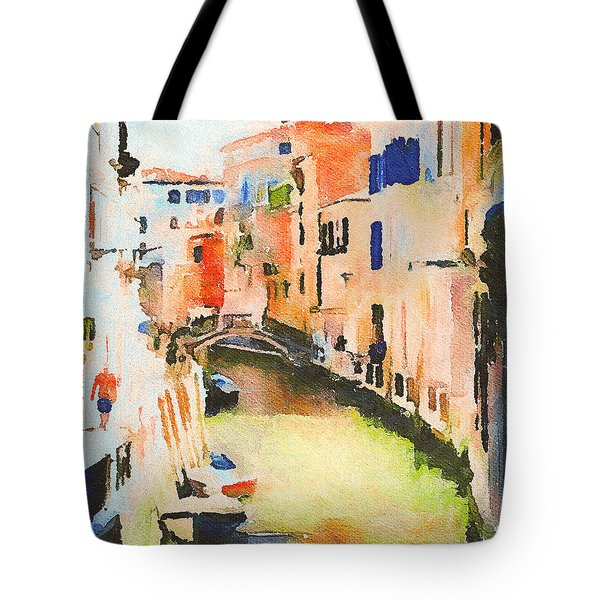 Venice On Waters Tote Bag