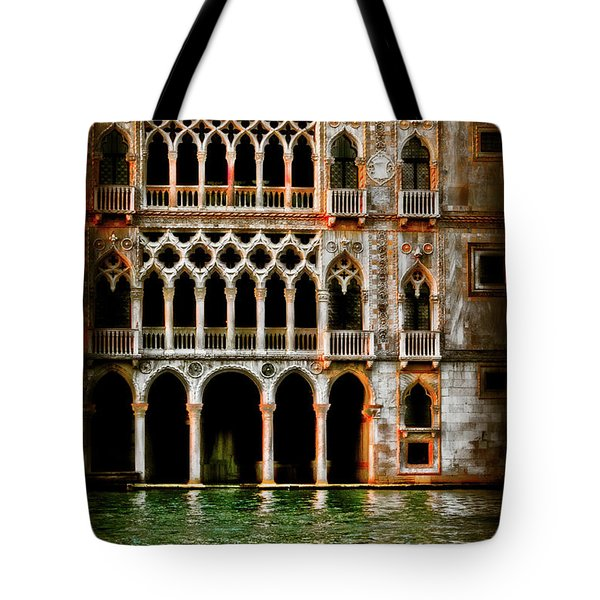 Tote Bag featuring the photograph Venice Palace  by Harry Spitz