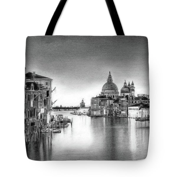 Venice Pencil Drawing Tote Bag