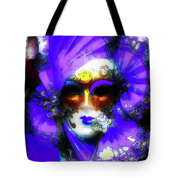 Venice Purple Carnival Mask Tote Bag