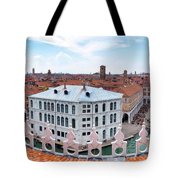 Tote Bag featuring the photograph Venice Rooftops by Fabrizio Troiani