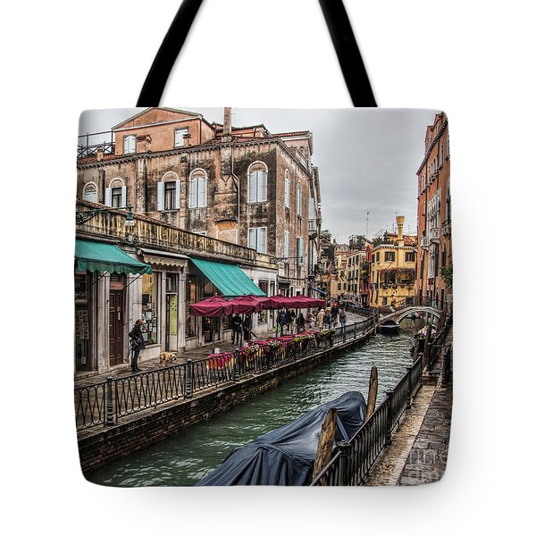 Tote Bag featuring the photograph Venice 'streets' by Shirley Mangini