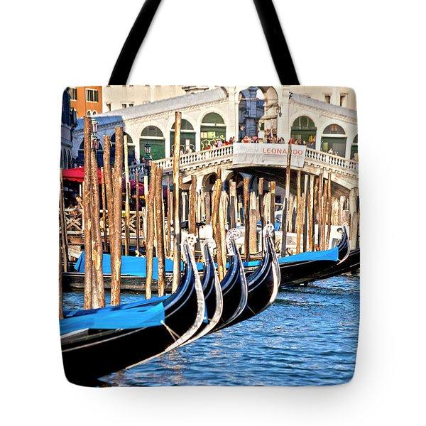 Venice Sunny Rialto Bridge Tote Bag by Heiko Koehrer-Wagner