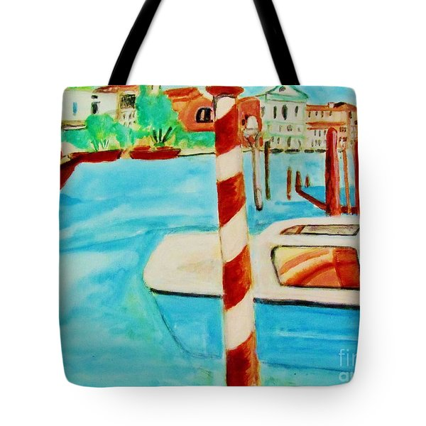 Venice Travel By Boat Tote Bag