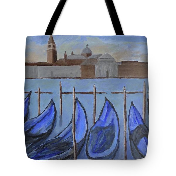 Tote Bag featuring the painting Venice by Victoria Lakes