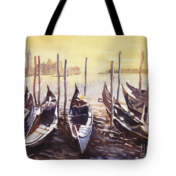 Tote Bag featuring the painting Venice Watercolor- Italy by Ryan Fox