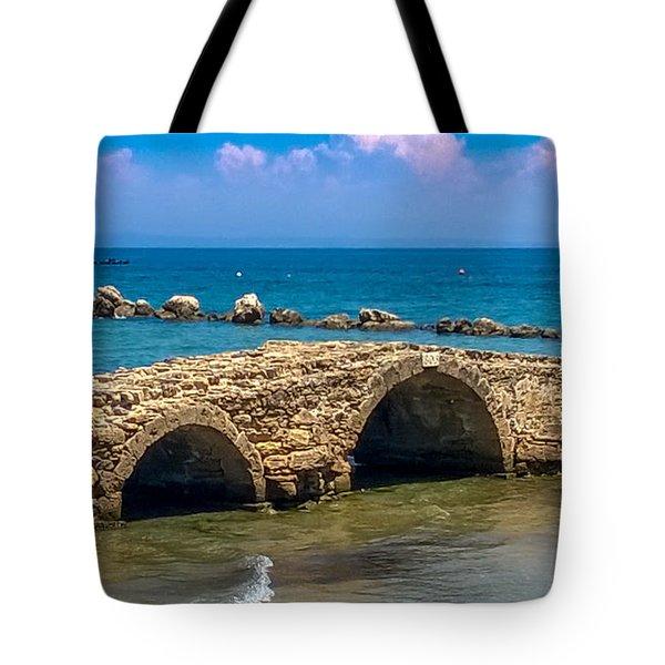 Venitian Bridge Argassi Tote Bag