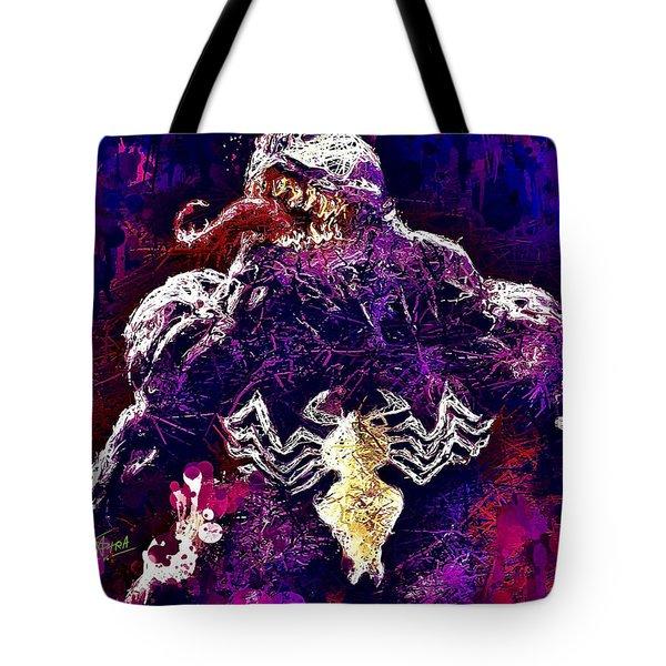 Tote Bag featuring the mixed media Venom by Al Matra