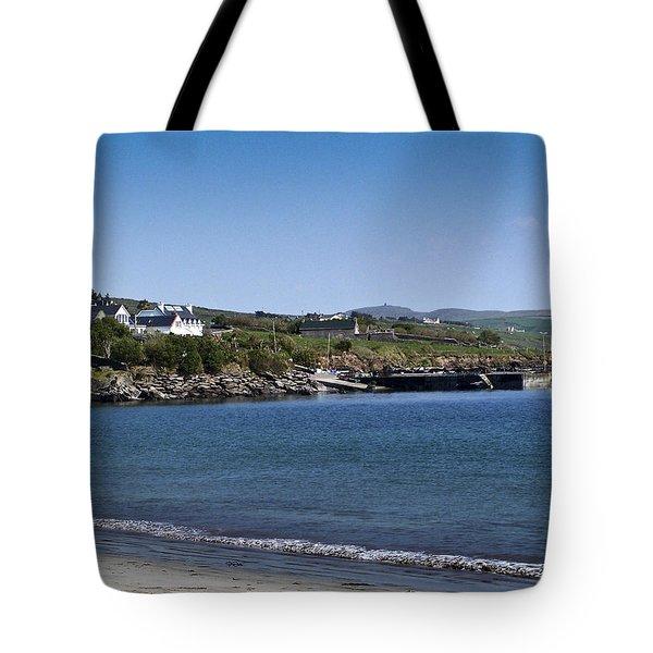 Ventry Beach And Harbor Ireland Tote Bag