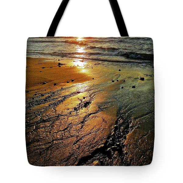 Ventura Beach Winter Sunset Tote Bag