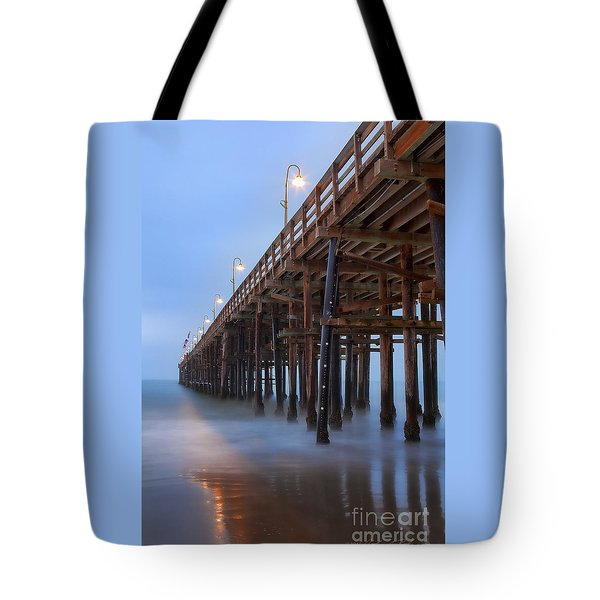 Tote Bag featuring the photograph Ventura Ca Pier At Dawn by John A Rodriguez