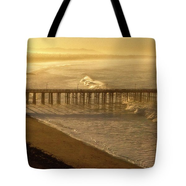 Ventura, Ca Pier At Sunrise Tote Bag