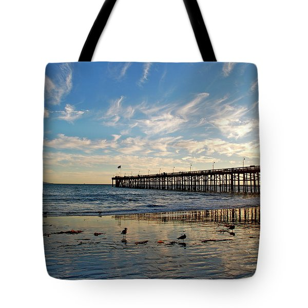 Ventura Pier At Sunset Tote Bag