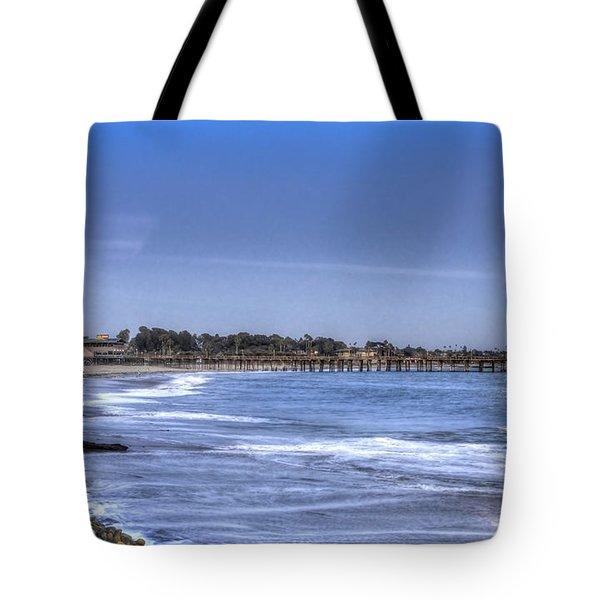 Ventura Pier Moonrise Tote Bag