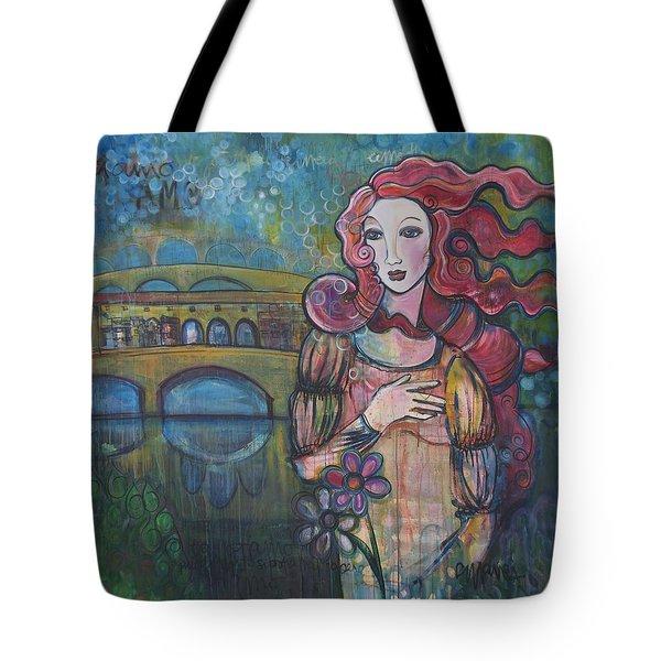 Venus And The Ponte Vecchio  Tote Bag