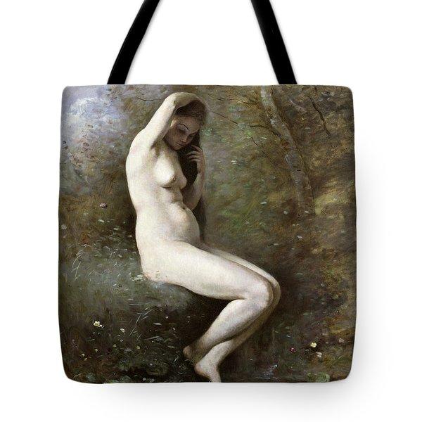 Venus Bathing Tote Bag by Jean Baptiste Camille Corot