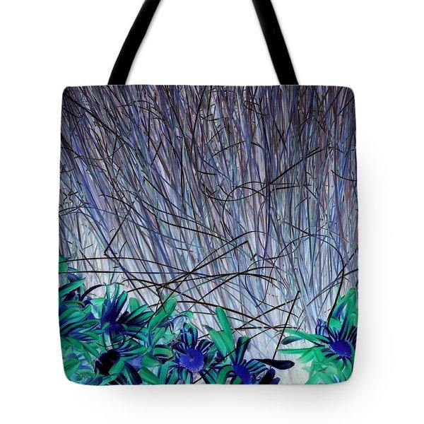 Venus Blue Botanical Tote Bag