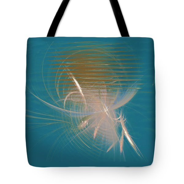 Tote Bag featuring the digital art Venus Born Out Of The Sea by Menega Sabidussi