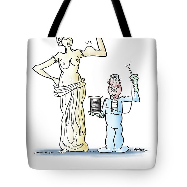 Tote Bag featuring the digital art Venus Di Muscle by Mark Armstrong