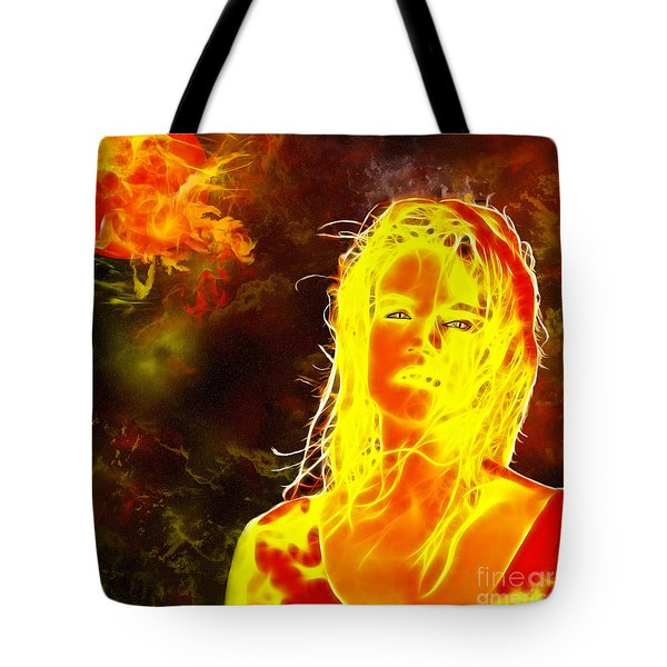 Venus Is Home Tote Bag by Methune Hively