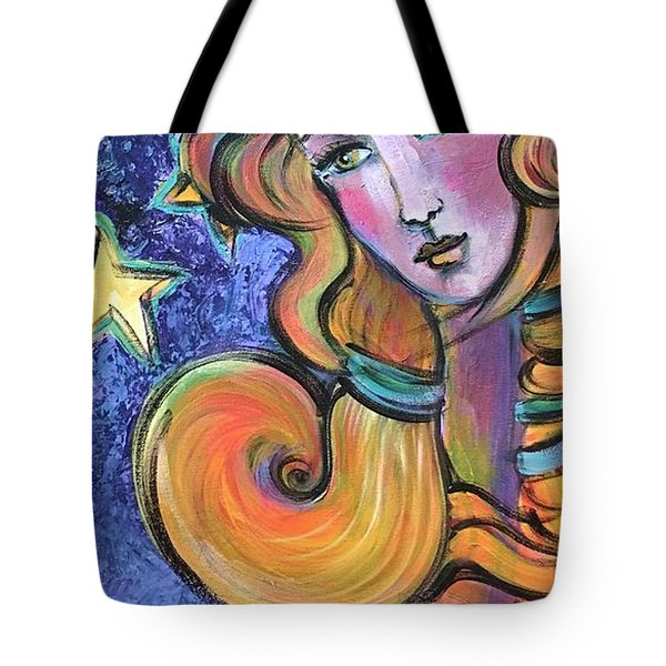 Tote Bag featuring the painting Venus Of Barbosso  by Laurie Maves ART