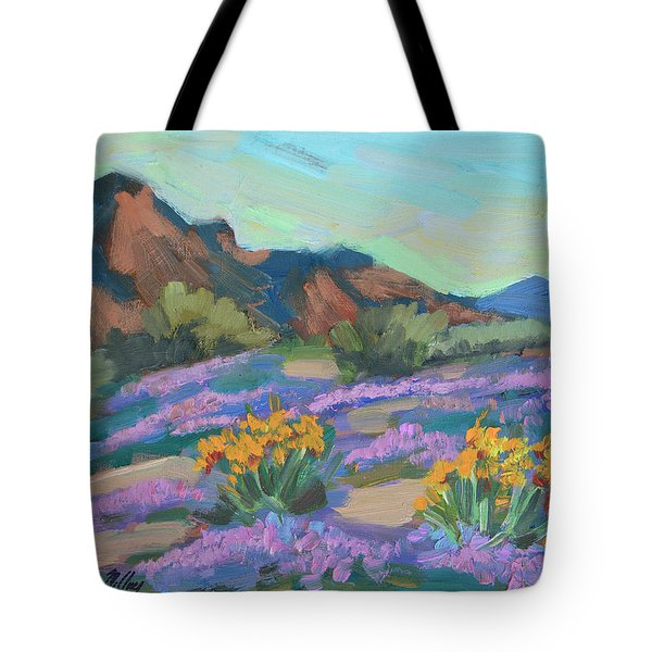 Tote Bag featuring the painting Verbena And Spring by Diane McClary