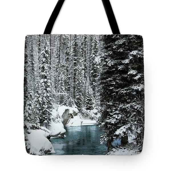 Verdant Creek - Winter 1 Tote Bag by Stuart Turnbull