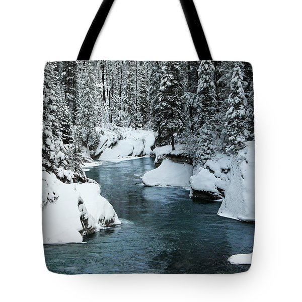 Verdant Creek - Winter 6 Tote Bag by Stuart Turnbull