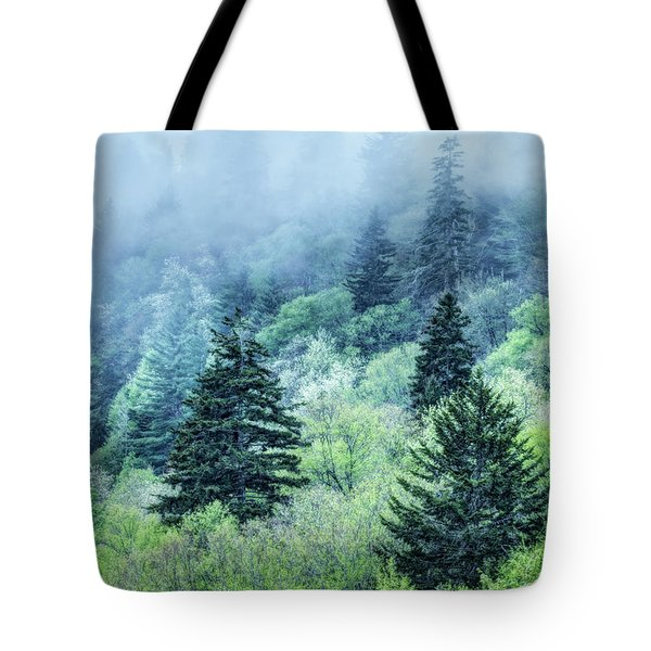 Verdant Forest In The Great Smoky Mountains Tote Bag