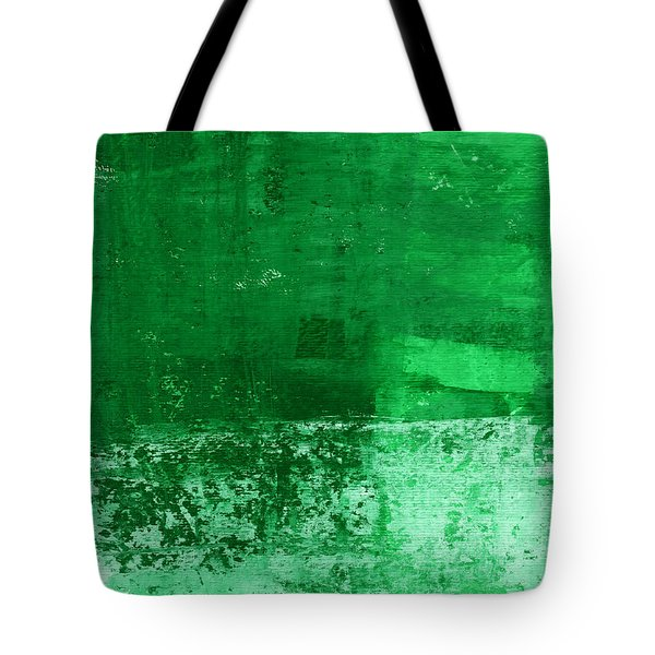 Verde-  Contemporary Abstract Art Tote Bag