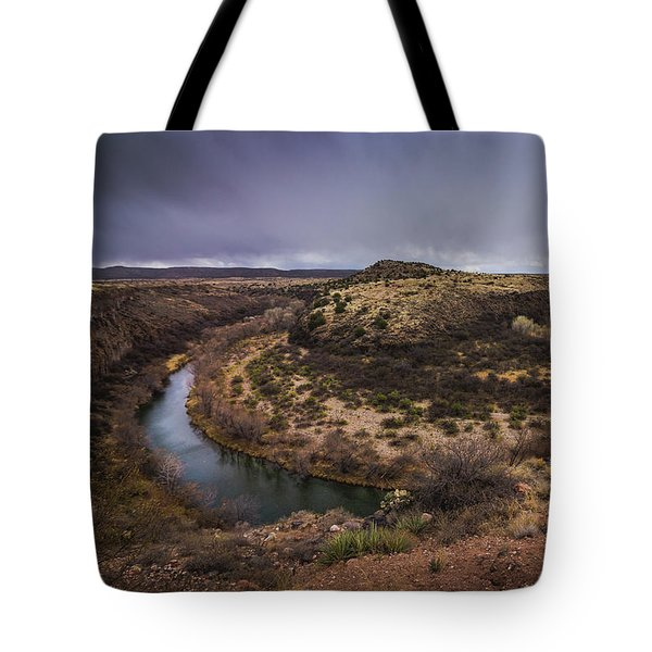 Tote Bag featuring the photograph Verde River Horseshoe by Andy Konieczny