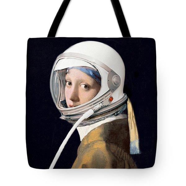 Vermeer - Girl In A Space Helmet Tote Bag