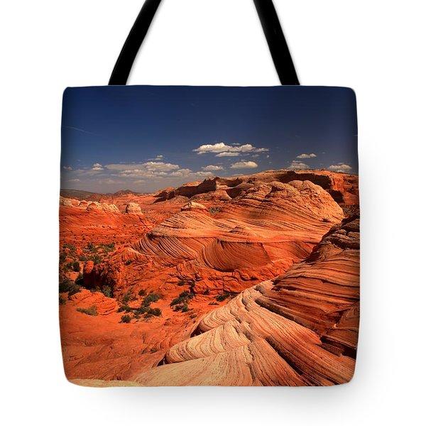 Vermilion Cliffs Rugged Landscape Tote Bag