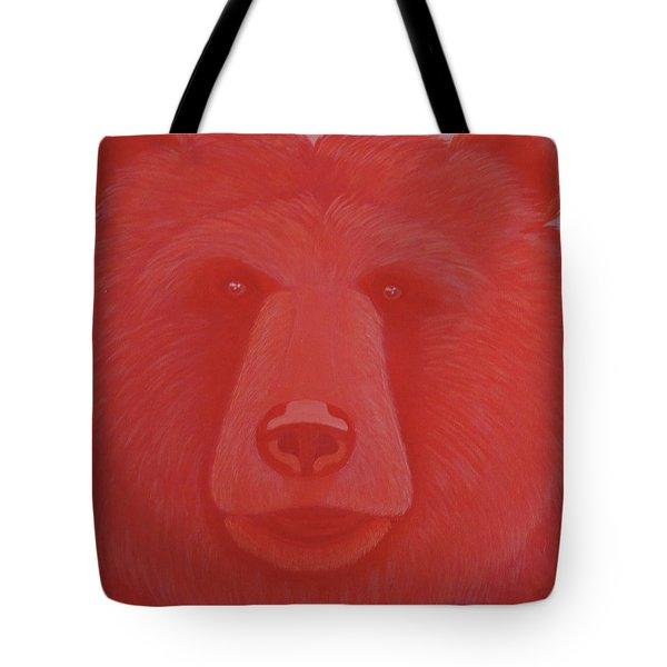 Vermillion Bear Tote Bag