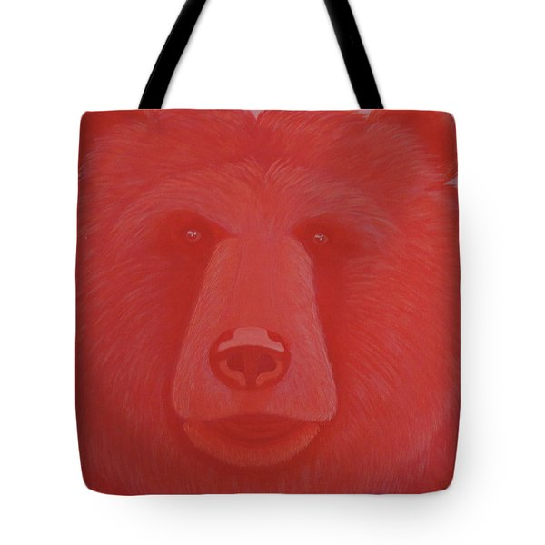 Vermillion Bear Tote Bag