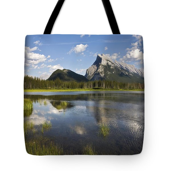 Vermillion Lake And Sulpher Mountain Tote Bag